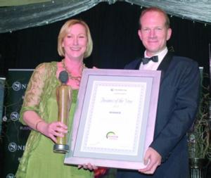 Allan Conolly (Managing Director) receiving the award from Jenny Goddard, regional head of Nedbank Business Banking