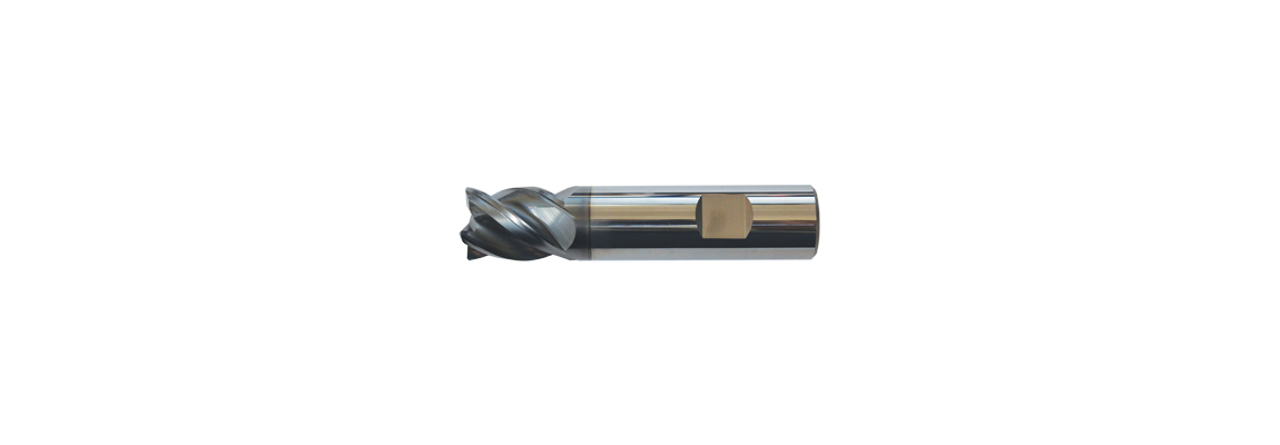Solid Carbide 4 Flute VariCut End Mills - Stub - Flatted Shank - Coated