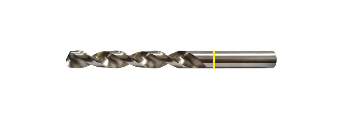 Banda amarilla Brocas corrientes de espiral rápida – HSS – Acabado brillante