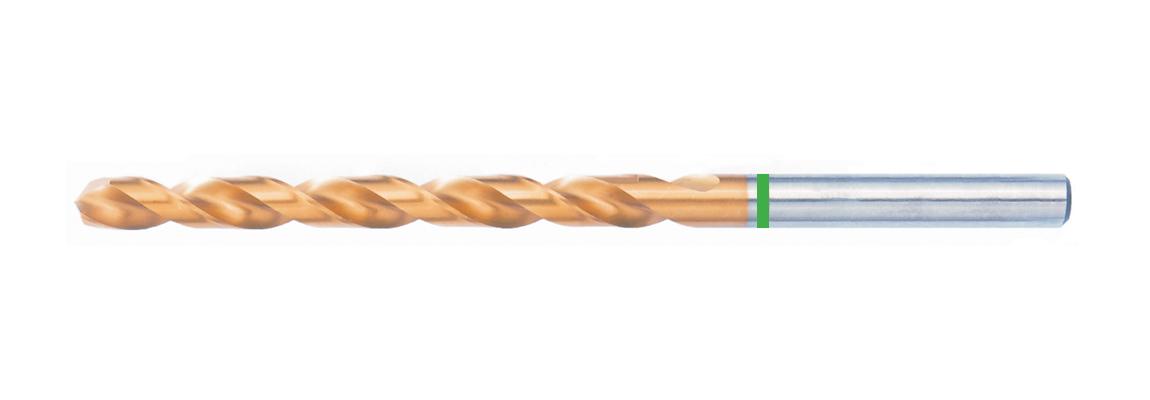 Brocas largas NDX banda verde – HSS-Co5 – Revestimiento de TiN