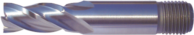 Multi-Flute End Mills – Regular Length – Threaded Shank – HSS-Co8e – TiAIN Coated and Uncoated