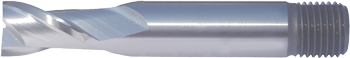 2 Flute End Mills (Slot Drills) – Regular Length – Threaded Shank – HSS-Co8e – TiAIN Coated and Uncoated