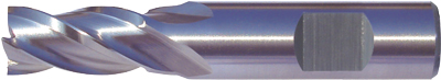 Multi-Flute End Mills – Regular Length – Flatted Shank – HSS-Co8e – TiAIN Coated and Uncoated