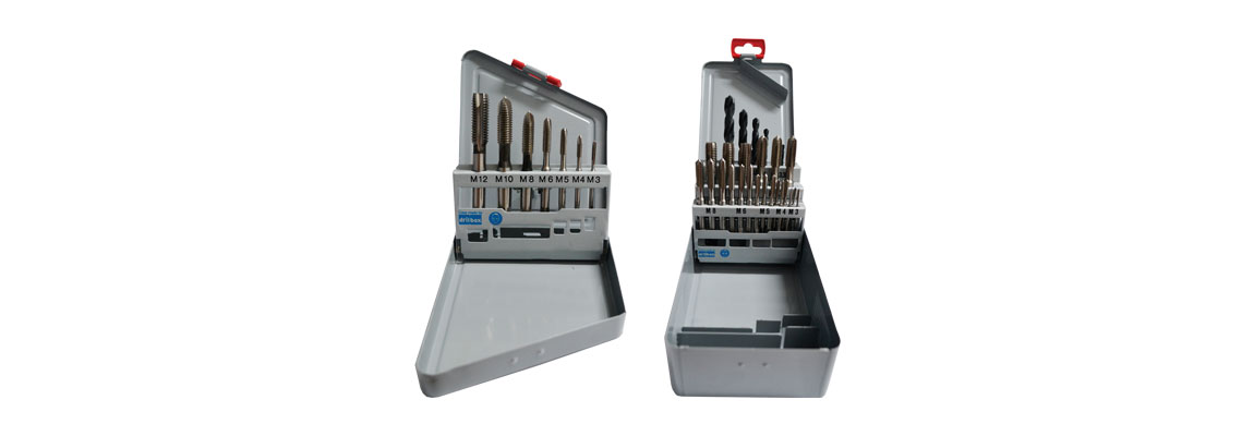 Drill and Tap Sets in Metal Index Cases - Metric Coarse - HSS