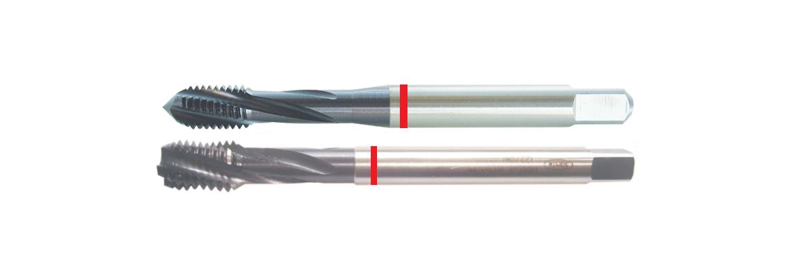 Machos de roscar ranura helicoidal banda roja – UNC – HSSE-V3 – Revestimiento de TiAIN