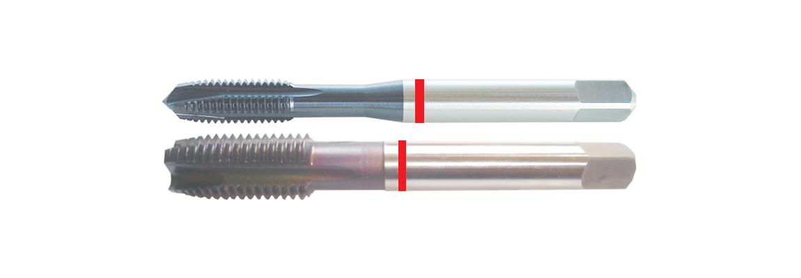 Machos de roscar a máquina con punta helicoidal dormer (gun nose) de banda roja – UNF – HSSE-V3 – Revestimiento de TiAIN