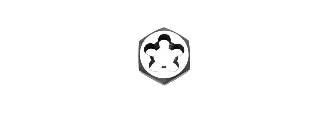 Hi-Cut Terrajas hexagonales de acero al carbono – Métricas de paso fino