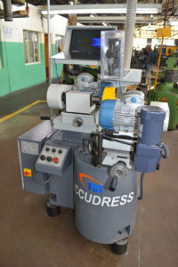 The new TGT Accudress wheel truing and profiling machine complete with a camera system