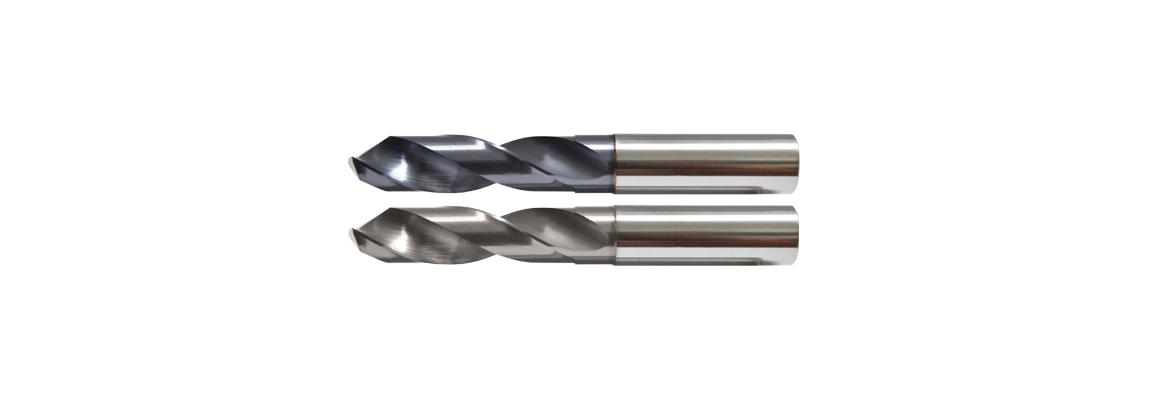 Цельные твердосплавные сверла короткой  серии – С покрытием и без покрытия