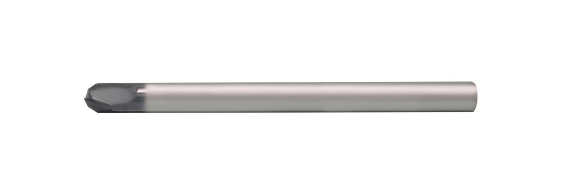 Цельные твердосплавные 2-х перые концевые чистовые фрезы со сферическим торцом – Длинная серия – Цилиндрический хвостовик – С покрытием