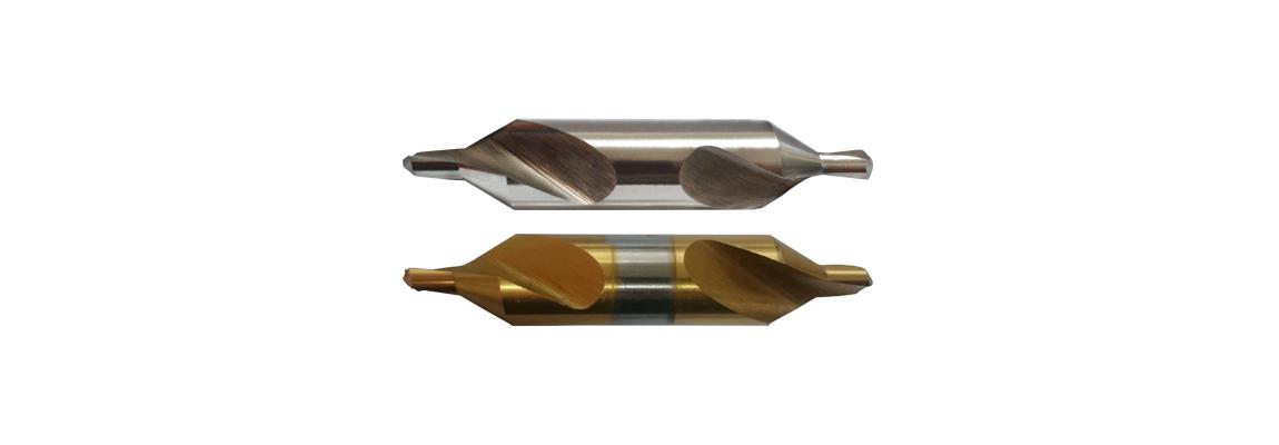 Центровочные сверла – Форма А – HSS – Шлифованный профиль и Покрытие TiN