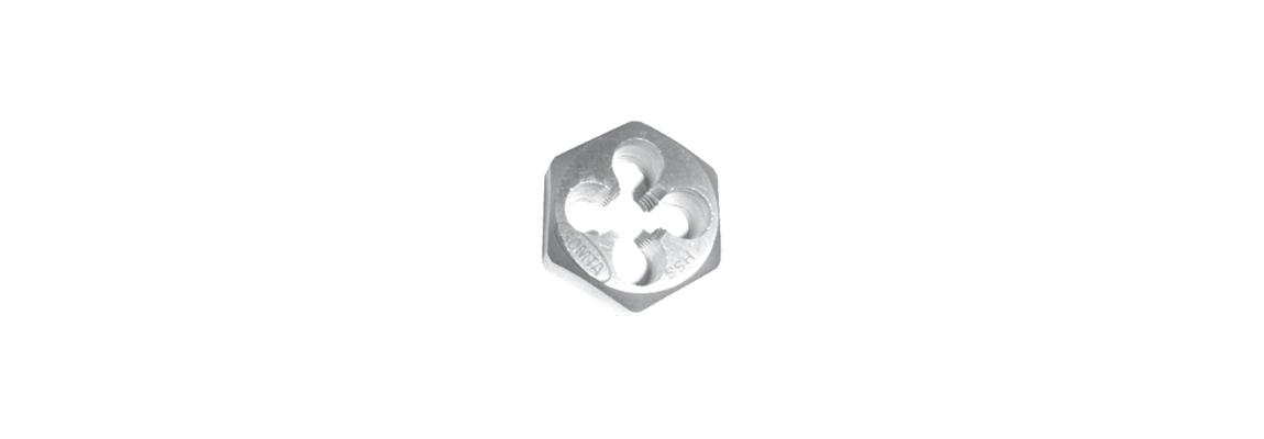 Шестигранные калибровочные плашки – Метрическая обычная резьба – HSS