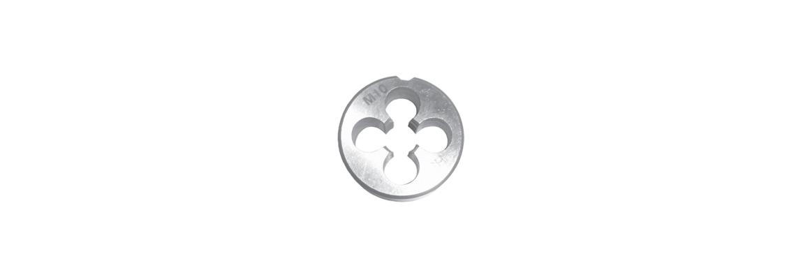 Неразрезные цилиндрические плашки – Метрическая обычная резьба – HSS